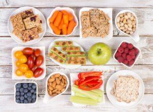 bowls of healthy food